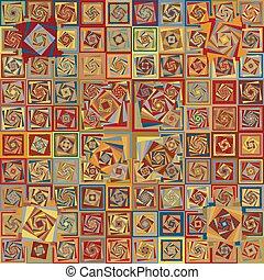 Amazing bright colors vintage geometric pattern. Vecor