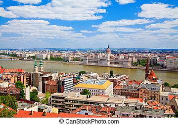 Amazing Budapest - amazing panorama view of Budapest, ...