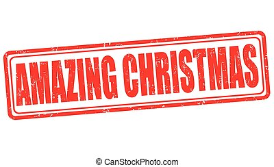 Amazing Christmas sign or stamp