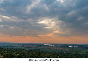 Amazing colorful dramatic sunset
