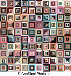 Amazing colorful vintage geometric pattern