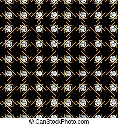 Amazing diamonds pattern. Jewelry texture. Vector illustration