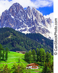 Amazing Dolomites mauntains. Beauty in nature, north of...