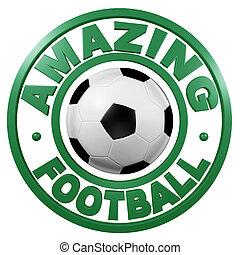 Amazing Football circular design