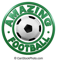 Amazing Football circular design