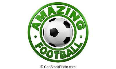 Amazing Football circular design with white background