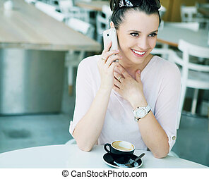 Amazing girl with fabulous smile - Amazing lady with...