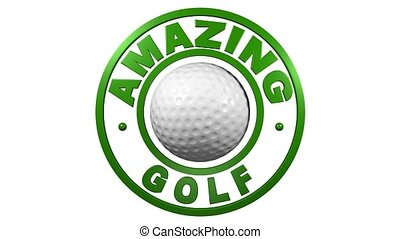 Amazing Golf circular design with a white background
