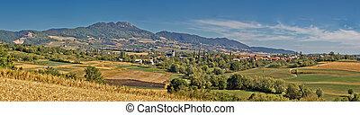 Amazing green natural scenery of Kalnik mountain, Croati,...