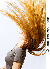 Amazing hair - Beautiful model moving her amazing long hair