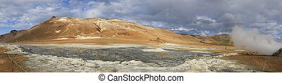 Amazing Hverir Namafjall geothermal site in Iceland -...