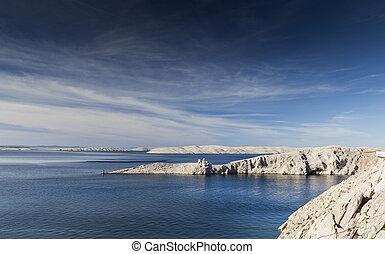 fortification - Amazing landscape coastline in Croatia with...