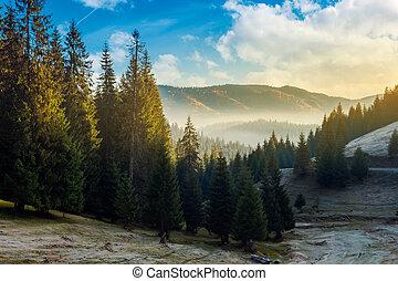 amazing landscape in autumn mountains - wonderful autumn...