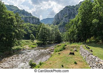 Amazing Landscape of Jerma River Gorge in Vlaska Mountain, Serbia