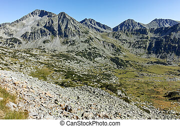 Amazing landscape with Kamenitsa, Yalovarnika, The Toots and The Dolls peaks, Pirin Mountain