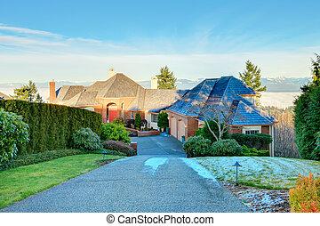 Amazing luxury brick house