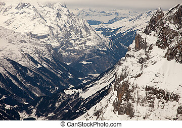 Amazing mountain scenery from Engelberg, Switzerland