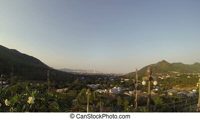 Amazing mountain view landscape on city Nha Trang - Amazing...