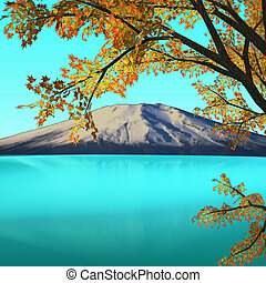 Amazing mountain with maple for adv or others purpose use