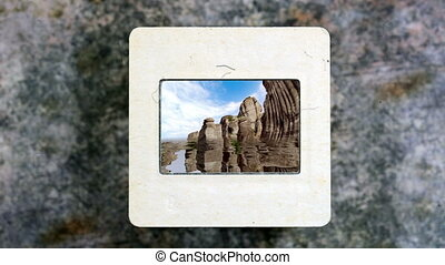 Amazing Mountains Reflected In The Water on vintage slide film