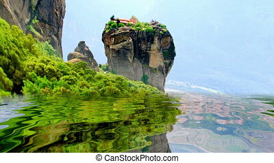 Amazing mountains reflected in the water