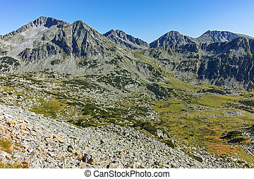 Amazing Panorama with kamenitsa, Yalovarnika, The Tooth and the Dolls peaks, Pirin Mountain