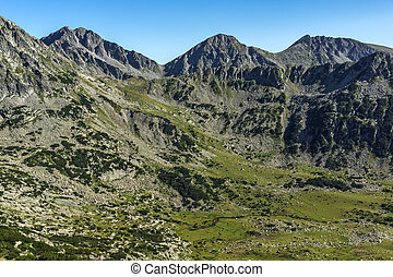 Amazing Panorama with Yalovarnika, The Tooth and the Dolls peaks, Pirin Mountain
