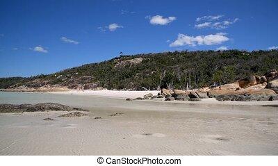 Amazing panoramic view of Whitehaven Beach, Queensland, Australia