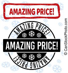 Amazing Price! Grunge and Clean Stamp Seals for New Year