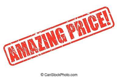 AMAZING PRICE red stamp text