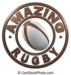 Amazing Rugby circular design
