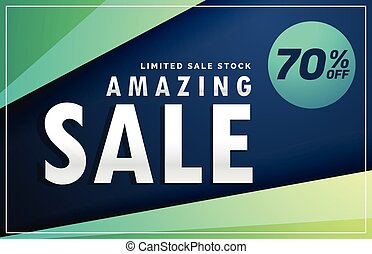 amazing sale banner discount voucher design template