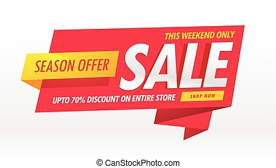 amazing sale banner promotional template for brand...