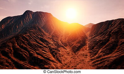 Amazing Sandstone Formations in Famous Sunset at Monument...