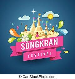 Amazing songkran festival of Thailand