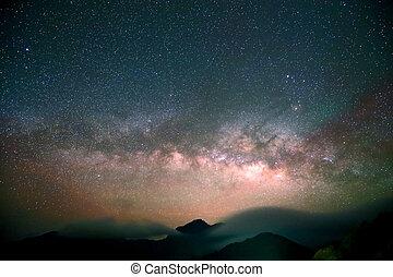 Amazing Star Night - night scene milky way background in the...