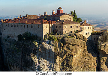 Amazing Sunset Landscape of Holy Monastery of St. Stephen in...