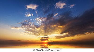 Amazing sunset over ocean.
