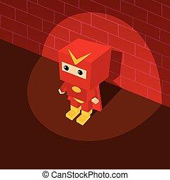 amazing superhero isometric theme