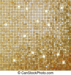 Amazing template on gold glittering. EPS 10