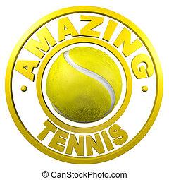 Amazing Tennis circular design