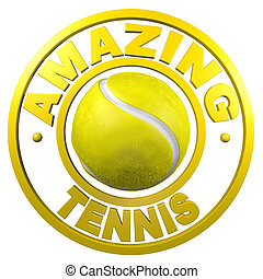 Amazing Tennis circular design