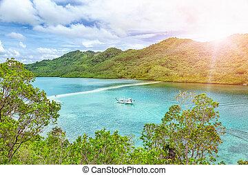 Amazing turquoise waters in El Nido, Philippines - Amazing...