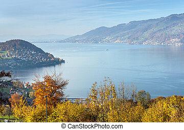 Amazing view near town of interlaken, canton of Bern, Switzerland