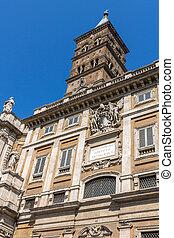 Amazing view of Basilica Papale di Santa Maria Maggiore in Rome