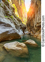 canyon - Amazing view of Goynuk canyon, Antalia, Turkey