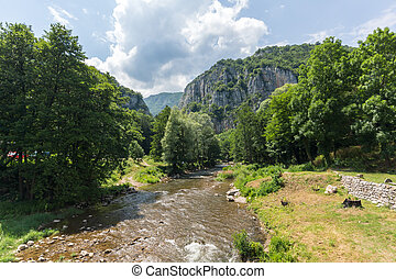 Amazing view of Jerma River Gorge in Vlaska Mountain