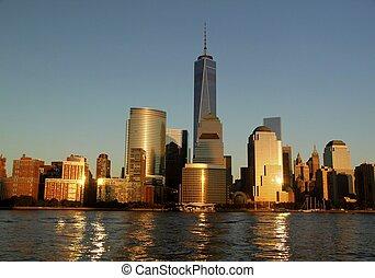 Amazing view of Manhattan New York skyline
