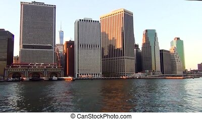 Amazing view of Manhattan New York skyline.