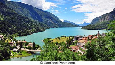 Amazing view of Molveno lake